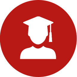 Graduate in Graduation Cap icon